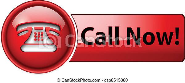 icono de teléfono, botón - csp6515060