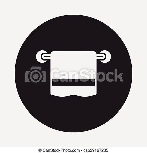 icono de toalla - csp29167235