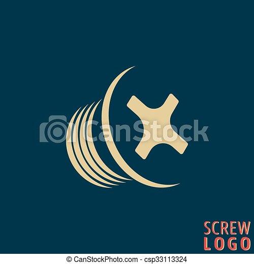 icono de tornillo abstracto - csp33113324