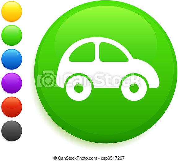 Icono del coche en el botón de internet - csp3517267