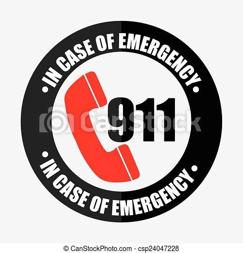 icono de emergencia - csp24047228