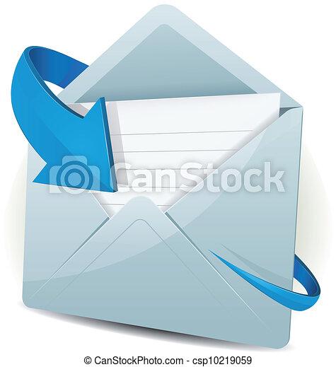 Email icon con flecha azul - csp10219059