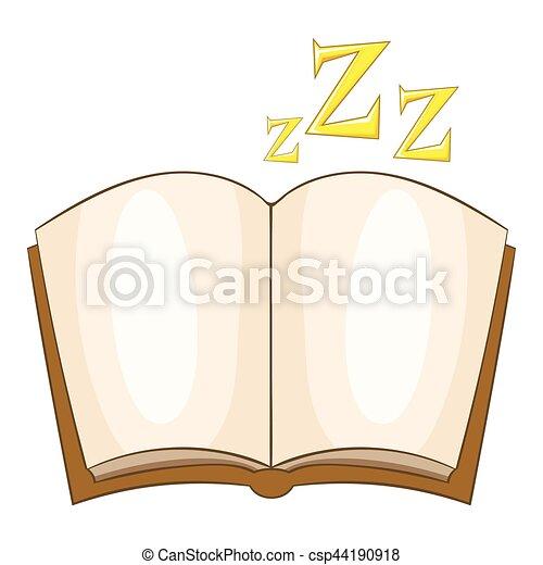 Ícono de la historia de la cama, estilo de dibujos animados - csp44190918