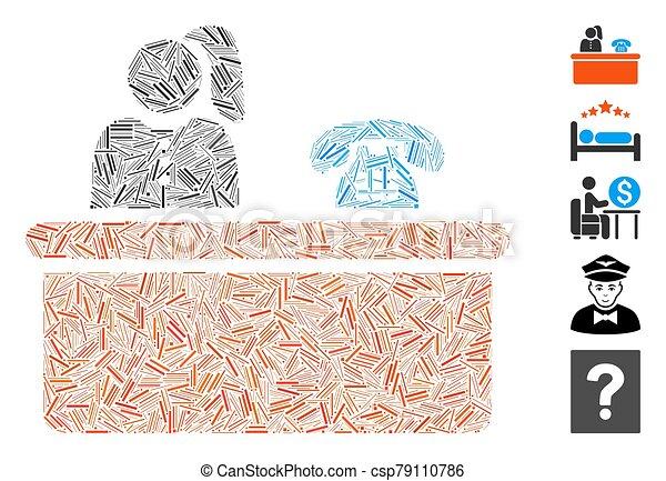 icono, recepción, arranque, mosaico - csp79110786