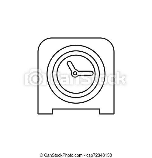 Icono de reloj de mesa, alarma de temporizador - csp72348158