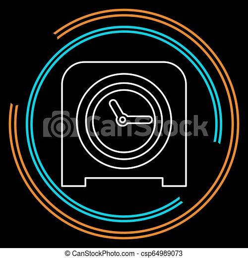 Icono de reloj de mesa, alarma de temporizador - csp64989073
