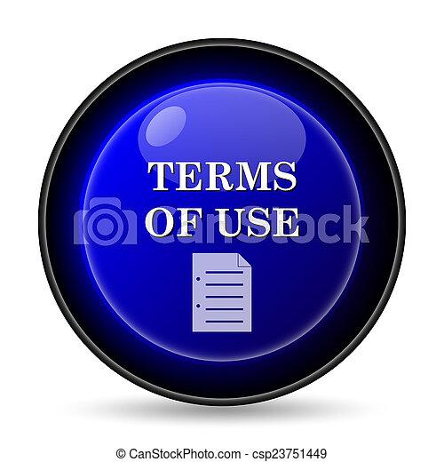 Los términos del icono de uso - csp23751449