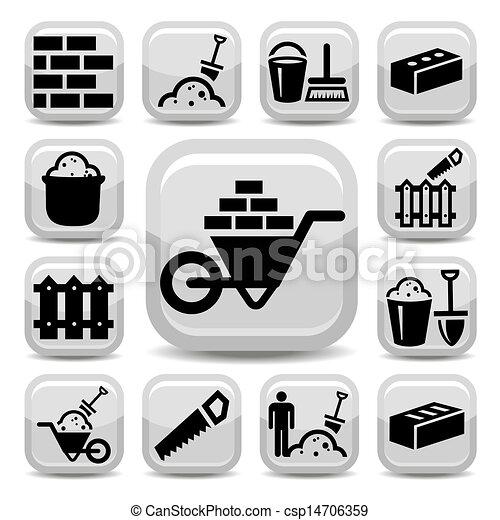 iconos Bricklayer - csp14706359