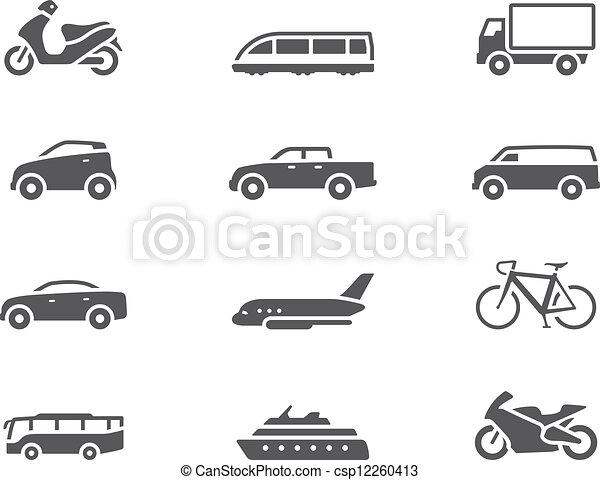 iconos BW - transporte - csp12260413