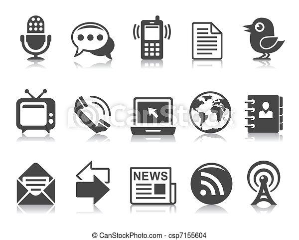 iconos de comunicación - csp7155604
