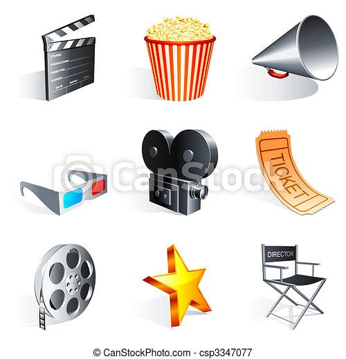 iconos de cine. - csp3347077