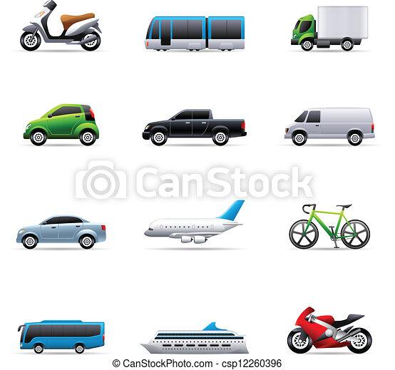 iconos de color, transporte - csp12260396