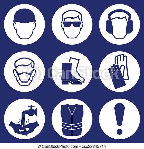iconos de la industria de la construcción - csp22245714