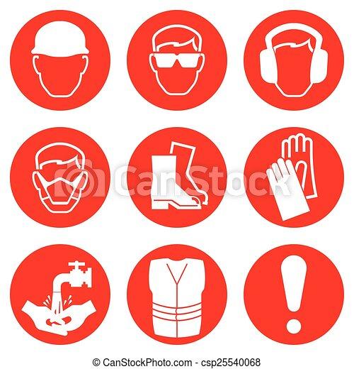 iconos de la industria de la construcción - csp25540068
