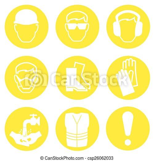 iconos de la industria de la construcción - csp26062033