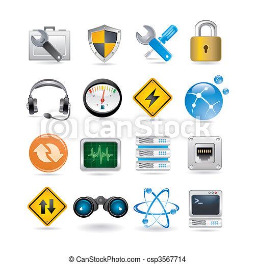 iconos de la red - csp3567714