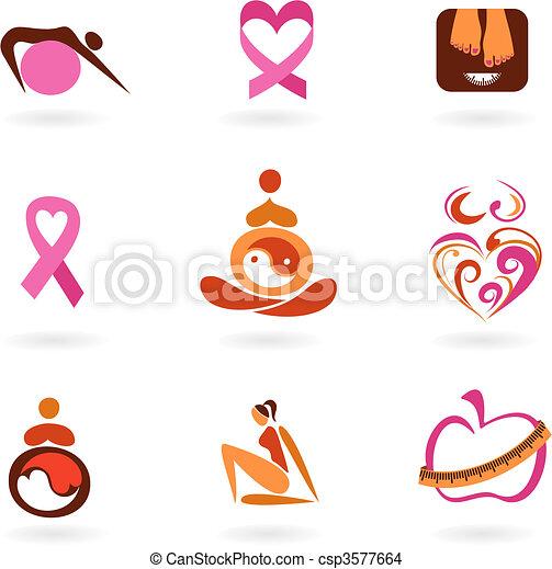 iconos de salud femenina - csp3577664