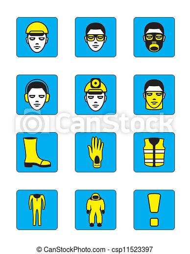 iconos de salud y seguridad - csp11523397
