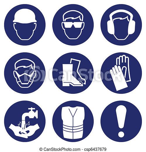 iconos de salud y seguridad - csp6437679