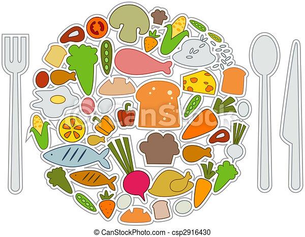 iconos de comida - csp2916430
