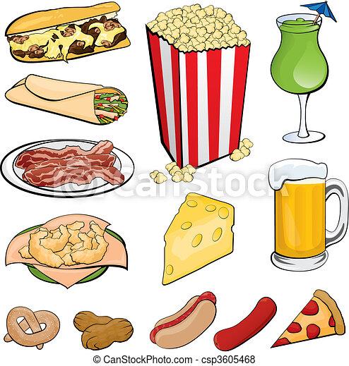iconos de comida - csp3605468