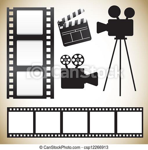 iconos del cine - csp12266913