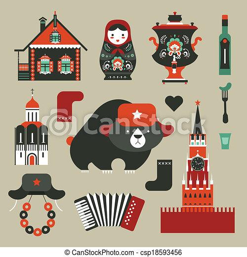 iconos rusos - csp18593456