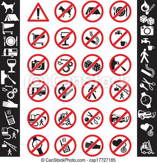 Iconos seguros - csp17727185