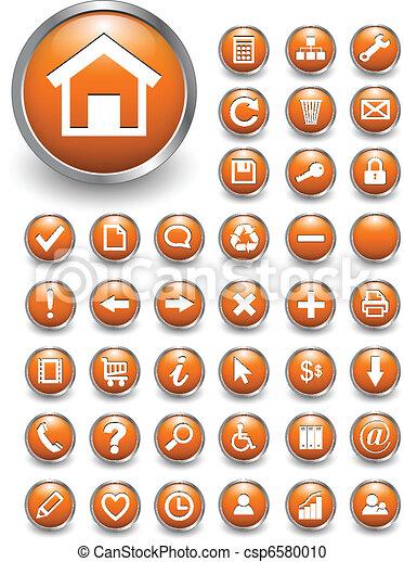 iconos Web, botones - csp6580010
