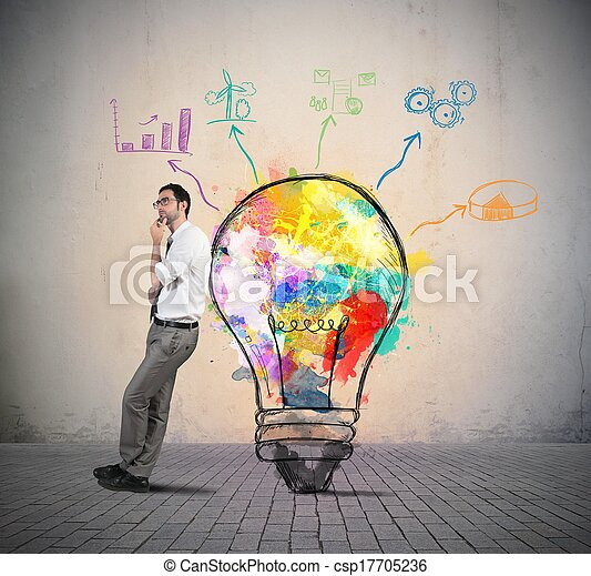 Idea de negocios creativa - csp17705236