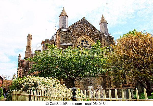Iglesia parroquial de centeno en Inglaterra - csp10640484