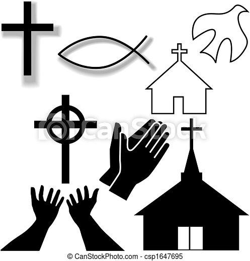 Iglesia y otros símbolos cristianos - csp1647695