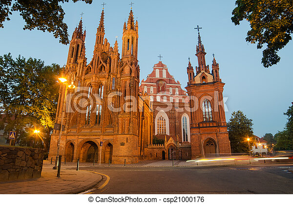 Iglesias en Vilnius, Lituania - csp21000176