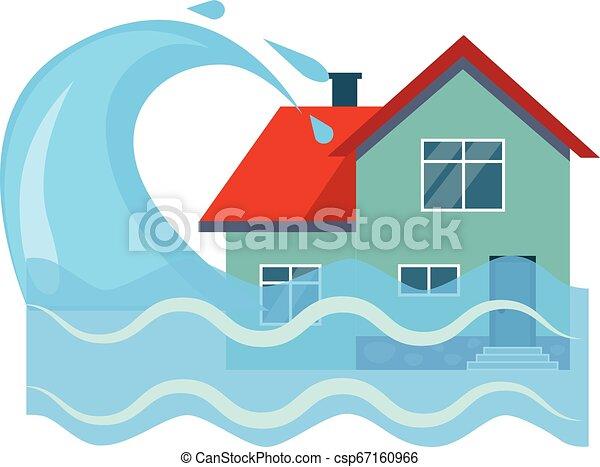Ilustración de vectores de seguros inundados - csp67160966