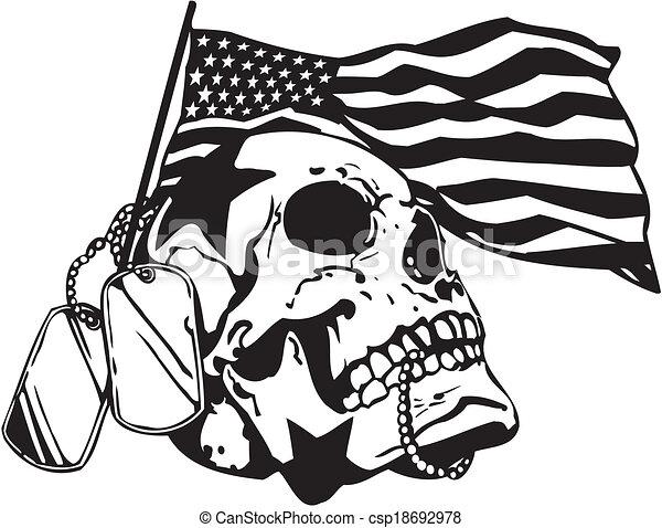 Diseño militar de EE.UU. - ilustración vectorial. - csp18692978