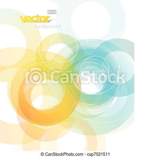 Ilustración abstracta con círculos. - csp7021511
