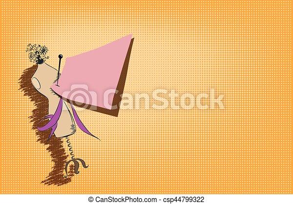 Ilustración de acciones. Mannequin. - csp44799322