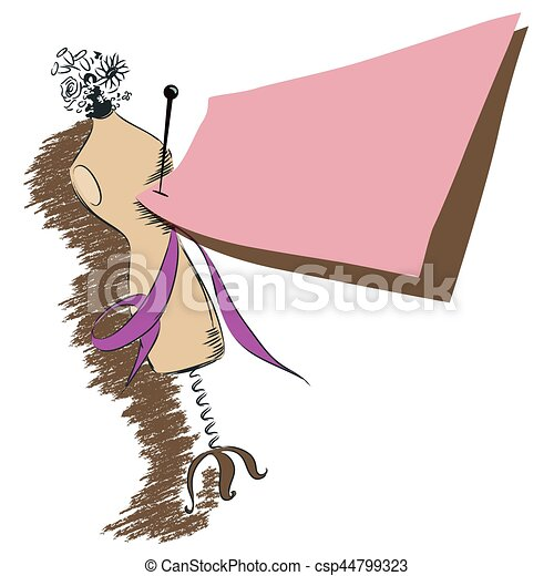Ilustración de acciones. Mannequin. - csp44799323