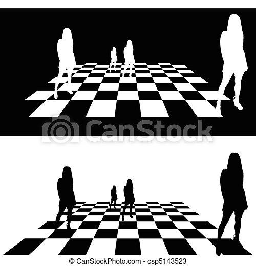 Ilustración de chica estratégica - csp5143523