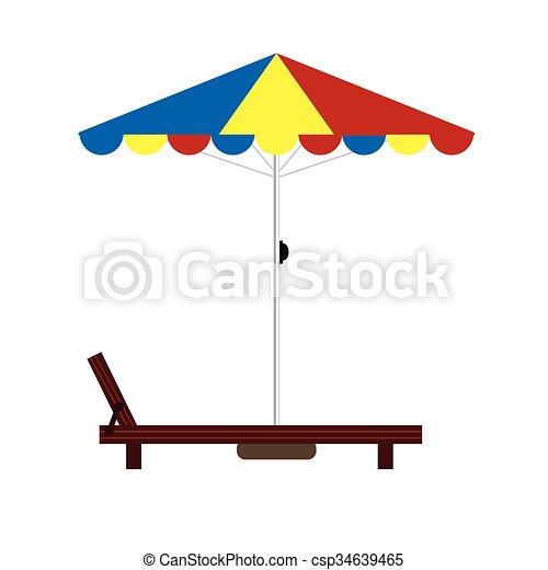 Ilustración de color de la silla de cubierta - csp34639465