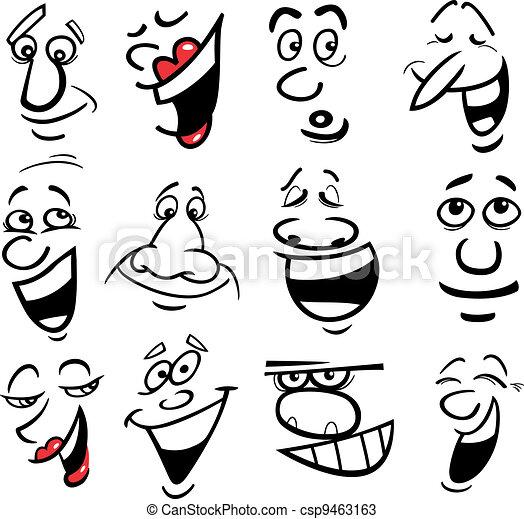 Ilustración de las emociones cartulinas - csp9463163