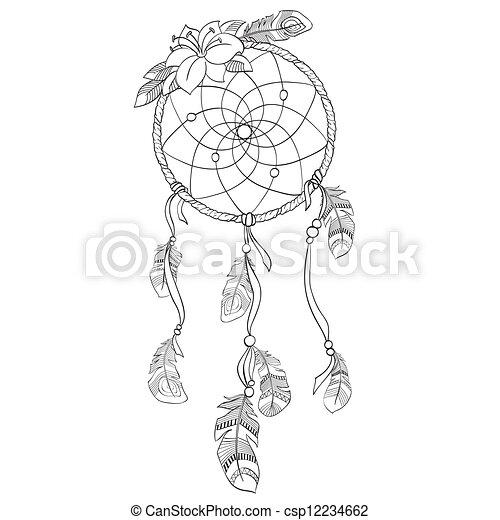 Ilustración de vector de sueños - csp12234662