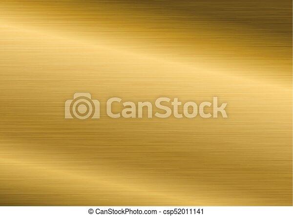 Ilustración de vectores de vector de origen de metal dorado - csp52011141