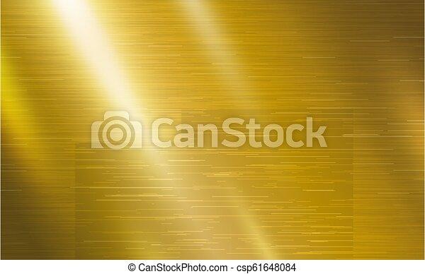 Ilustración de vectores de vector de origen de metal dorado - csp61648084