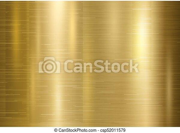 Ilustración de vectores de vector de origen de metal dorado - csp52011579