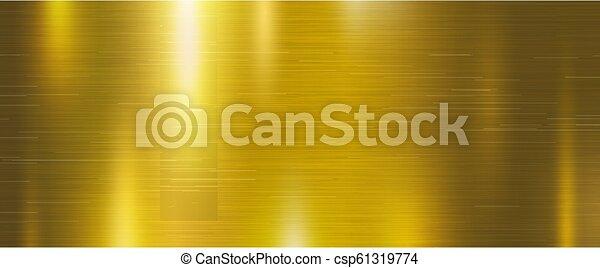 Ilustración de vectores de vector de origen de metal dorado - csp61319774
