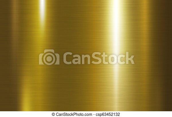 Ilustración de vectores de vector de origen de metal dorado - csp63452132