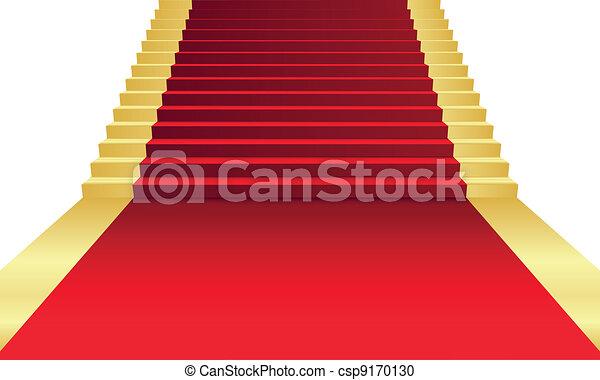 Ilustración del vector de alfombra roja - csp9170130