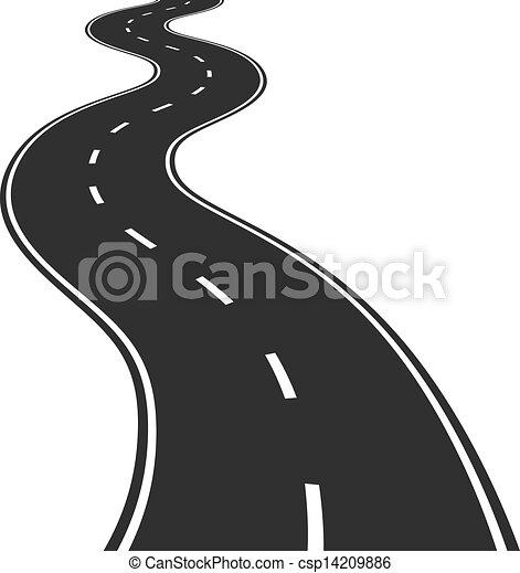 Ilustración del vector de la carretera - csp14209886