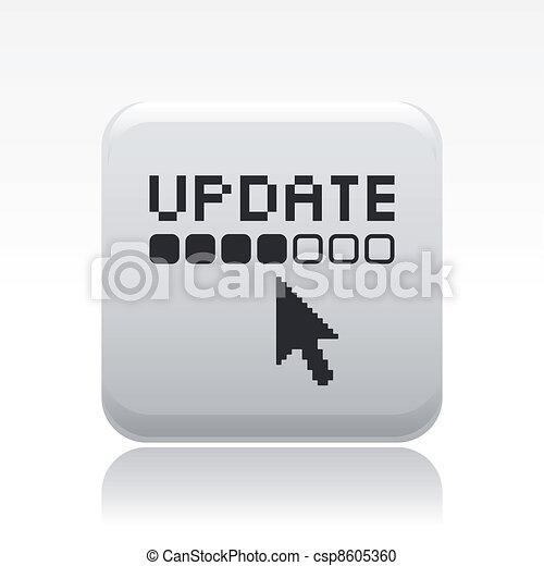 Ilustración del vector de un simple icono actualizado - csp8605360
